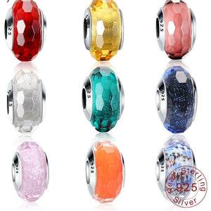 Sterling Silver Murano Glass Beads - 20 Colors