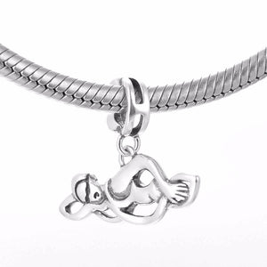 Sterling Silver Dangling Swimming Charm