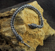 Load image into Gallery viewer, Vintage Look Thai Silver Braided Weave Bracelet, Sterling Silver Bracelet, Women's Sterling Silver Bracelet, Men's Sterling Silver Bracelet, Thai Sterling Silver Bracelet, Unique Sterling Silver jewelry, Sterling Silver Gifts, 100sterling.com