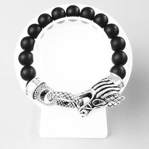 Men's CorbinOne Silver Plated Dragon Head Bracelet