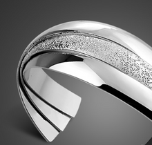 Load image into Gallery viewer, Sterling Silver Triple Band Cuff Bracelet
