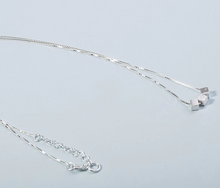 Load image into Gallery viewer, Silver Plated Triple Cube Necklace