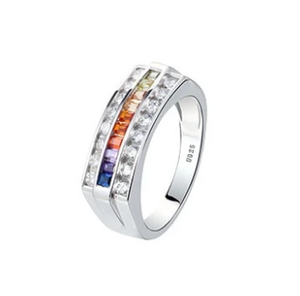 Sterling Silver Colors of the Rainbow Ring Collection - 13 Designs Available
