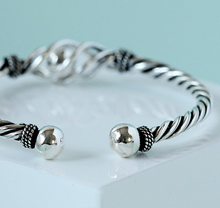 Load image into Gallery viewer, Sterling Silver Twisted Rope Bracelet