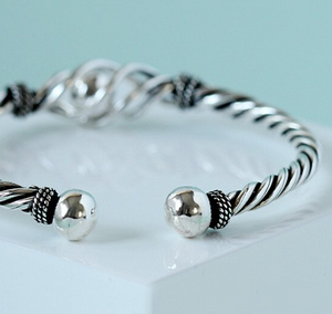 Sterling Silver Twisted Rope Bracelet