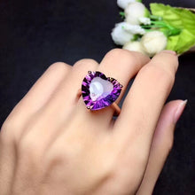Load image into Gallery viewer, Ariana Heart-Shaped Amethyst & Citrine (Ametrine) Sterling Silver Ring