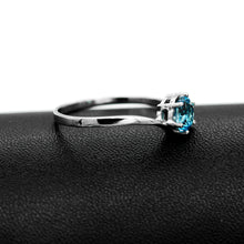 Load image into Gallery viewer, Beatrice's Contemporary .84 Carat Blue Topaz & Sterling Silver Ring