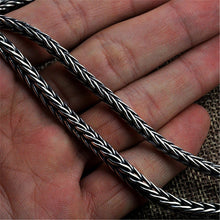 Load image into Gallery viewer, Men's Vintage Design Thai Silver Braided Weave Necklace - Holiday Special Now 15% OFF