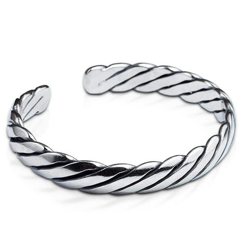 Hand-made Thai Sterling Silver Cuff Bangle