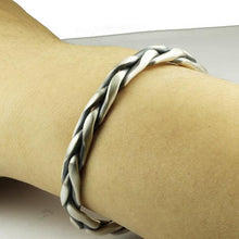Load image into Gallery viewer, Braided Sterling Silver Open Bangle Bracelet