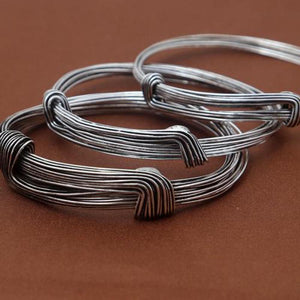 "Sterling Silver ""Wired-Up"" Bracelets"
