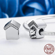 Load image into Gallery viewer, Sterling Silver & Cubic Zirconia Trim Doghouse Bead Charm