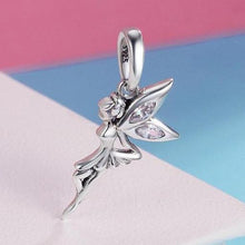 Load image into Gallery viewer, Sterling Silver Dangling Magical Fairy Charm