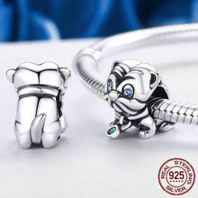 Load image into Gallery viewer, Sterling Silver Blue Eyed Pup Bead Charm