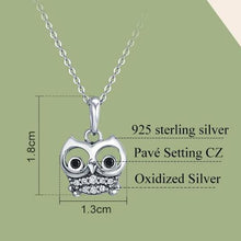 Load image into Gallery viewer, Sterling Silver Dangling Big Eyed Owl Charm