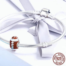 Load image into Gallery viewer, Sterling Silver American Football Bead Charm