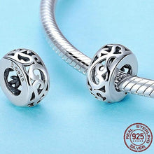 Load image into Gallery viewer, Sterling Silver Swirl Spacer Bead