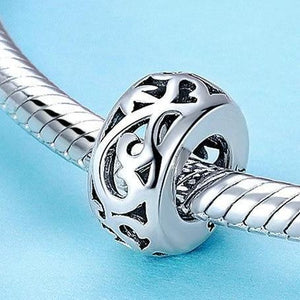 Sterling Silver Swirl Spacer Bead