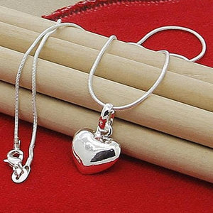 Sterling Silver Heart Pendent Necklace