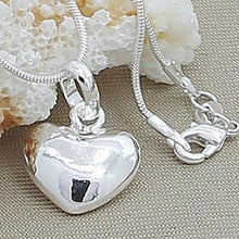 Load image into Gallery viewer, Sterling Silver Heart Pendent Necklace