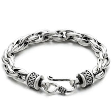 Load image into Gallery viewer, Sterling Silver Double Link Fish Hook Bracelet