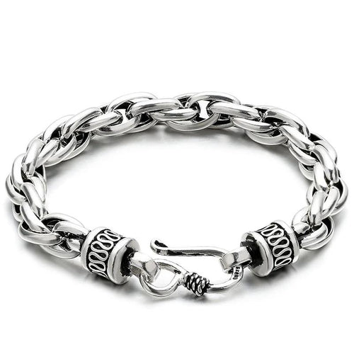 Sterling Silver Double Link Fish Hook Bracelet