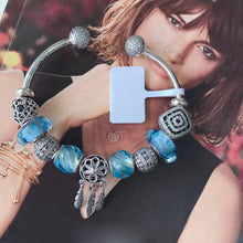 "Load image into Gallery viewer, Sterling Silver ""Blue Water Dreams"" Bangle Bracelet - SPECIAL OFFER!"