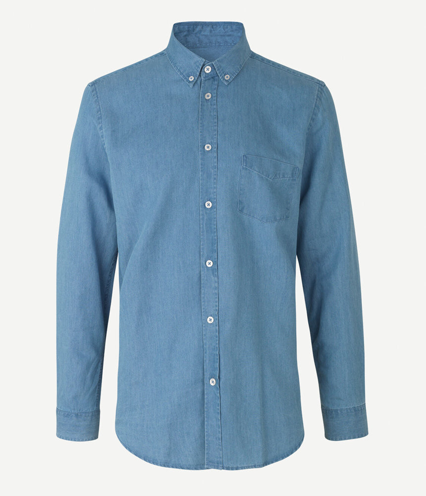 Samsoe Samsoe Liam Shirt in Dream Blue