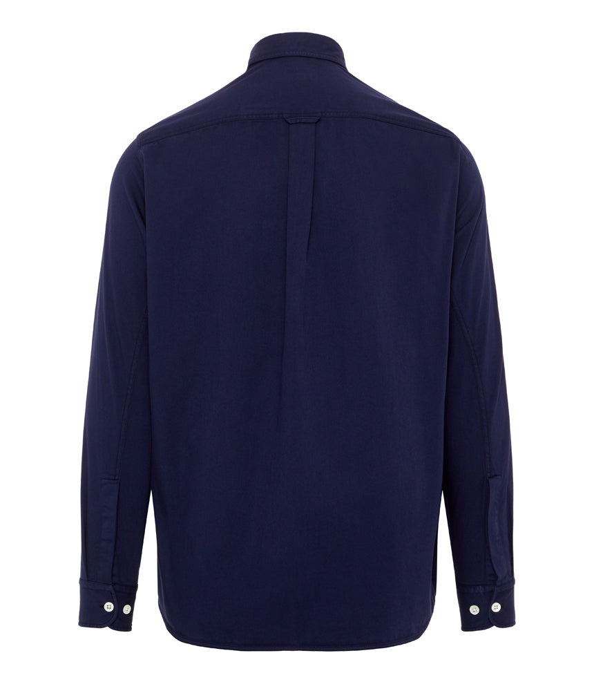 J.Lindeberg David HB Cotton Twill Shirt in Mid Blue