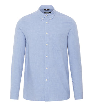 J.Lindeburg Daniel Light Flannel Shirt in Skyrim Blue
