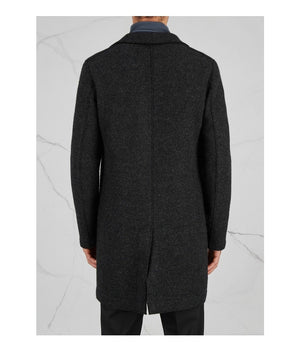 Harris Wharf London Boxy Long Coat in Anthracite - Man - bloke-white-denim