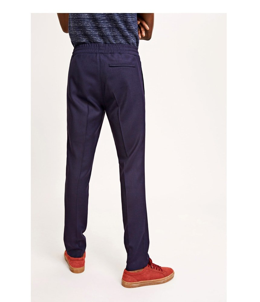 Samsoe Samsoe Smith Pants in Dark Sapphire - Man - bloke-white-denim
