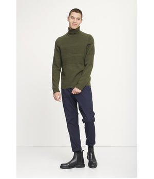 Samsoe Samsoe Bobble Knit Turtle Neck in Deep Depths