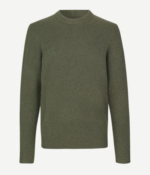 Samsoe Samsoe Butler Knitted Crew Neck in Deep Depths