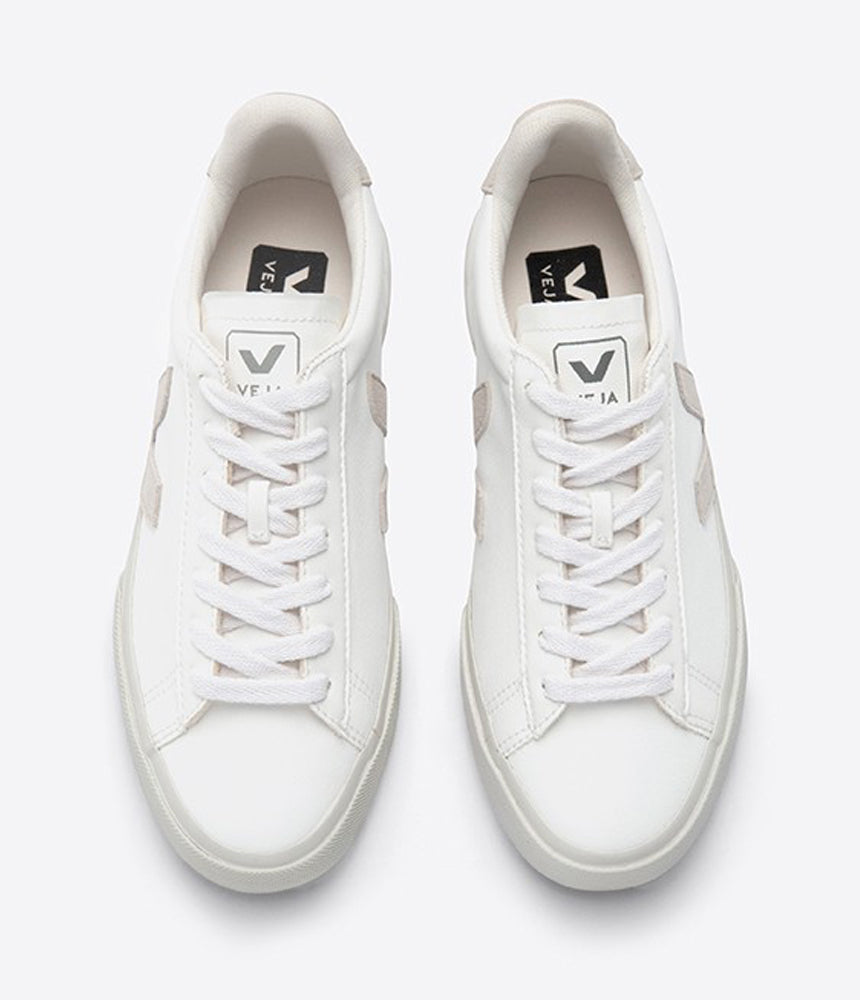 Veja Campo Chromefree Trainers in Extra White & Natural