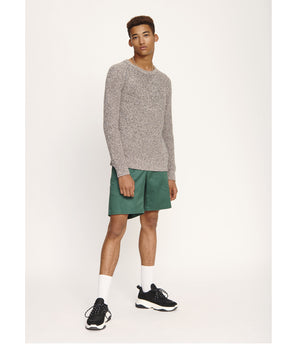 Samsoe Samsoe College Shorts in Mallard Green - Man - bloke-white-denim