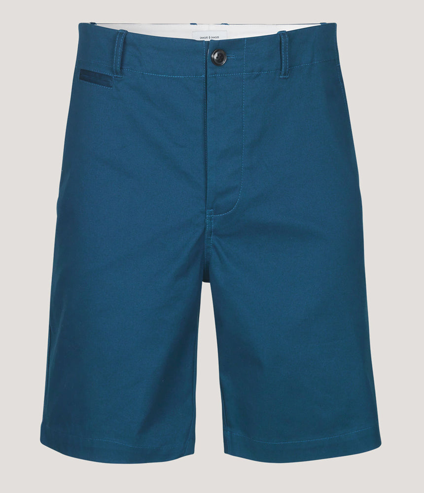Samsoe Samsoe College Shorts in Gibraltar Sea Blue - Man - bloke-white-denim