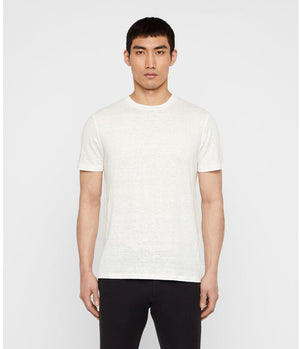 J.Lindeberg Coma Linen T-Shirt in Cloud White