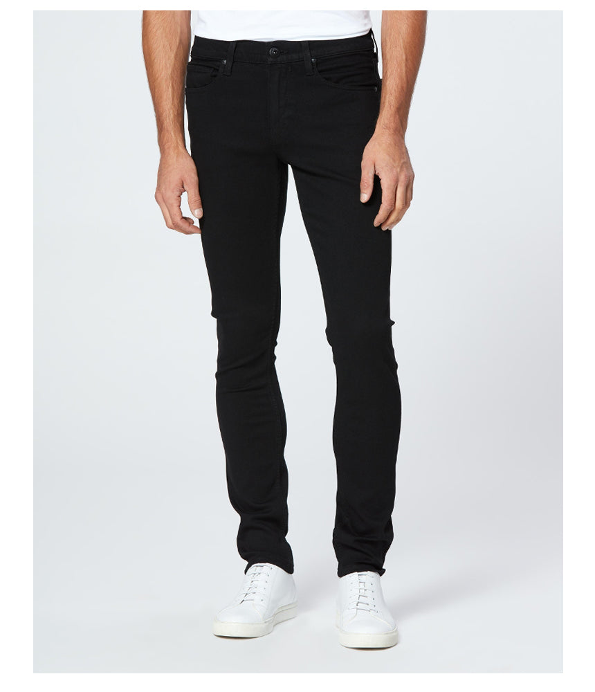 Paige Denim Croft Skinny Jeans in Black Shadow