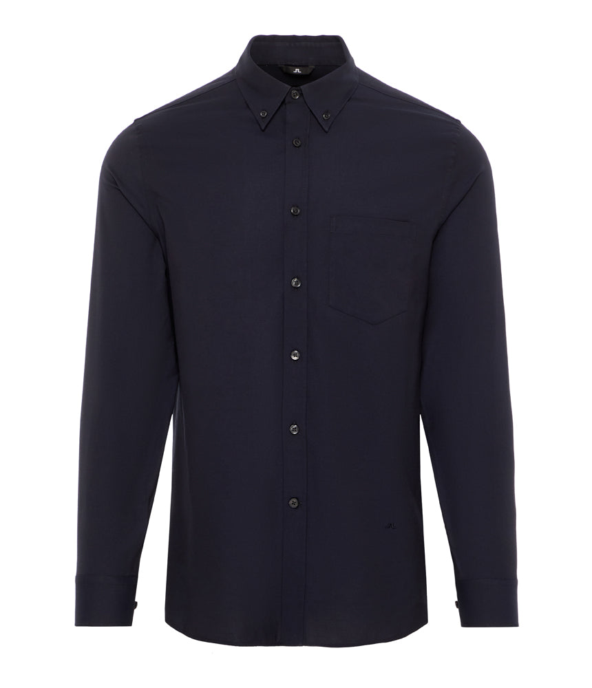 J.Lindeburg Daniel Stretch Oxford Shirt in Navy