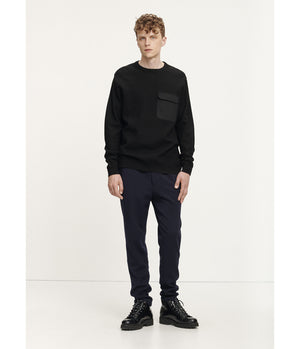 Samsoe Samsoe Dirillo Crew Neck Knit in Black