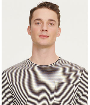 Samsoe Samsoe Finn Long Sleeve Top in Black Stripe
