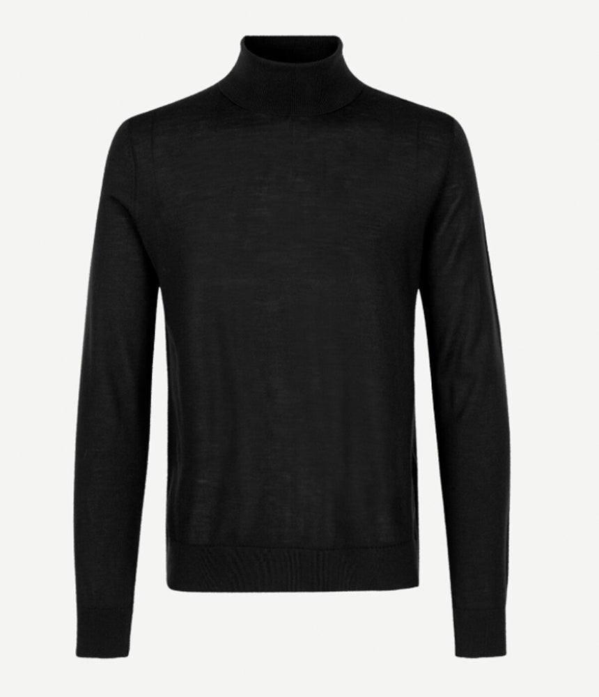 Samsoe Samsoe Flemming Turtle Neck in Black -  - bloke-white-denim