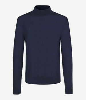 Samsoe Samsoe Flemming Turtle Neck in Night Sky -  - bloke-white-denim