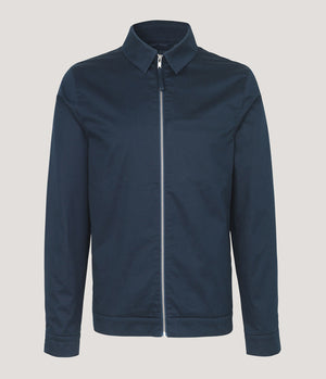 Samsoe Samsoe Gilbert Jacket in Dark Sapphire - Man - bloke-white-denim