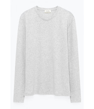 American Vintage Classic Long Sleeve Tee in Grey Marl - Man - bloke-white-denim