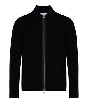 Samsoe Samsoe Guna Zip knitted cardigan/jacket in Black -  - bloke-white-denim
