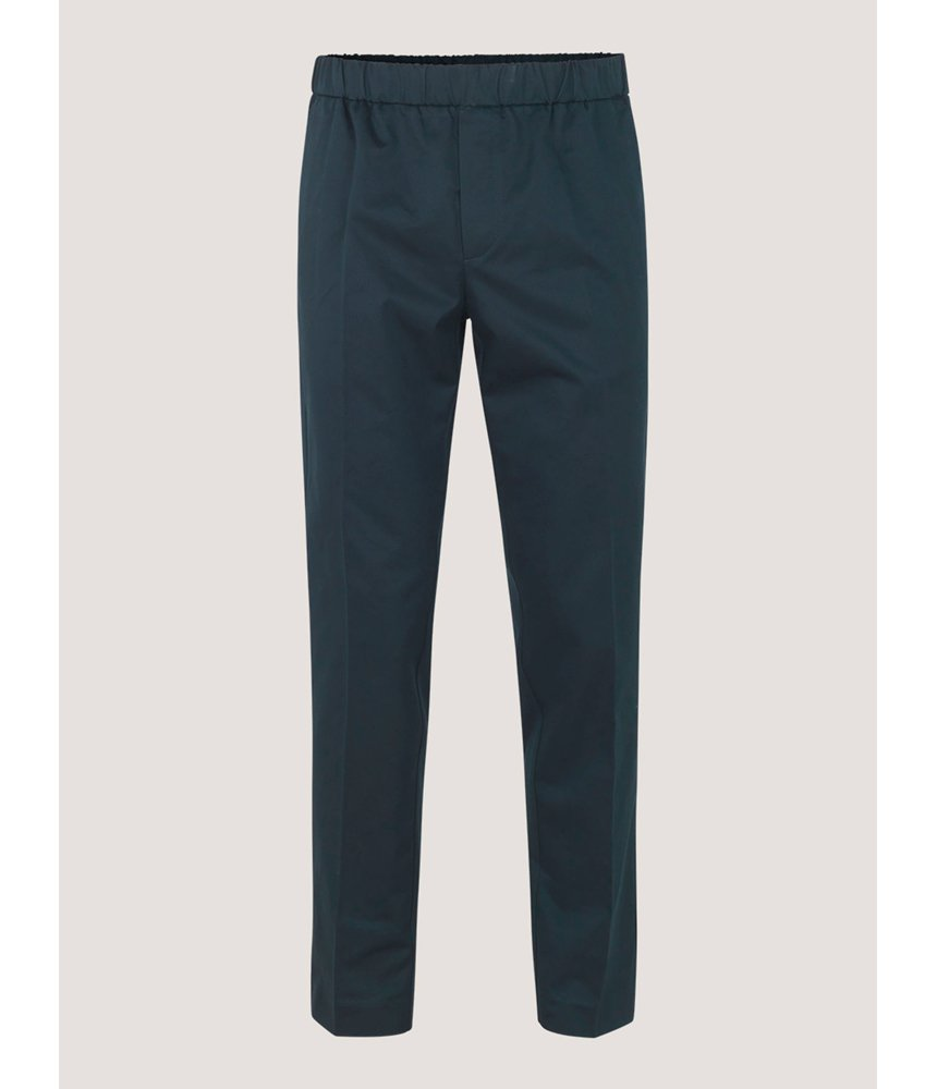 Samsoe Samsoe Laurent Drawstring Pants in Dark Sapphire - Man - bloke-white-denim