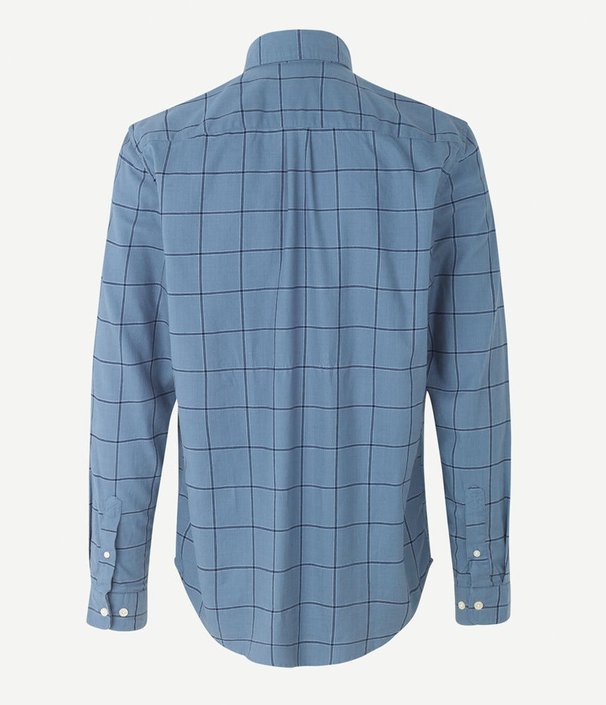 Samsoe Samsoe Liam Shirt in Blue Mirage Check