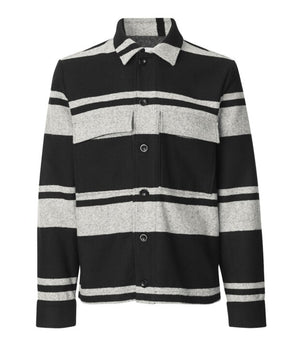 Samsoe Samsoe Meli X Jacket in Black Stripe